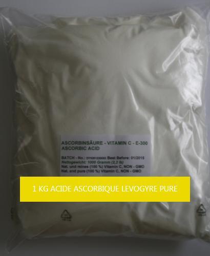 1 KG ACIDE ASCORBIQUE LEVOGYRE 100 % PURE