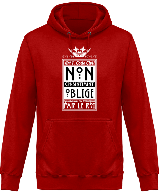 sweat shirt a capuche homme sweat a capuche non consentement oblige face