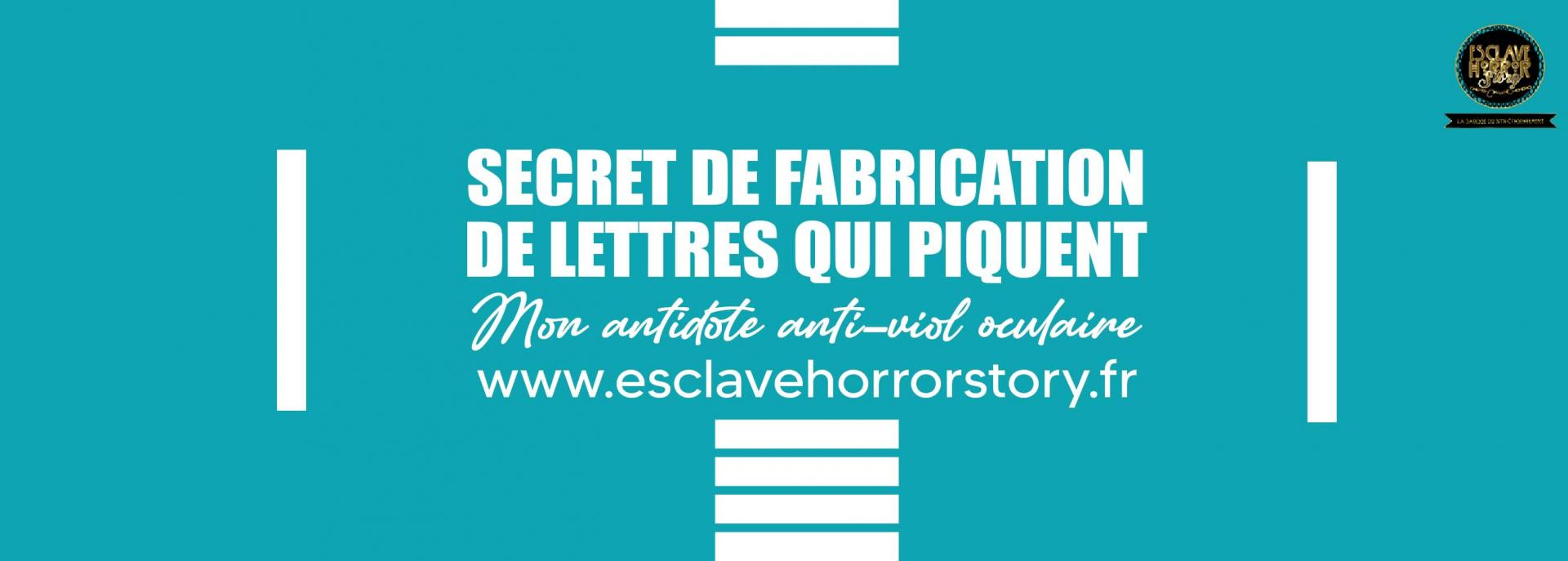 Banniere site secret de fabrication de lettres qui piquent