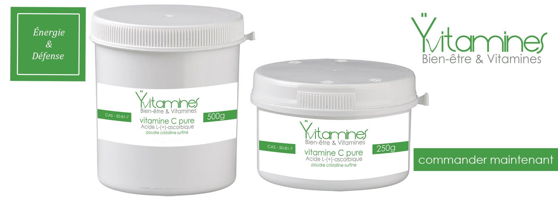Energie et defense vitamine c pot 250g 500g yvitamine 2