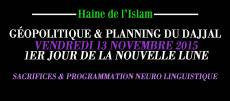 Planning du dajjal vendredi 13 novembre 2015