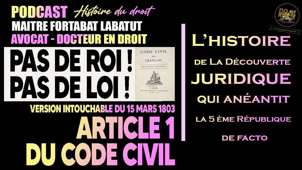 Podcast art 1 du code civil