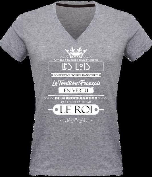 7614677 t shirt col v femme 180 gr tshirt femme col v article 1 du code civil plexus