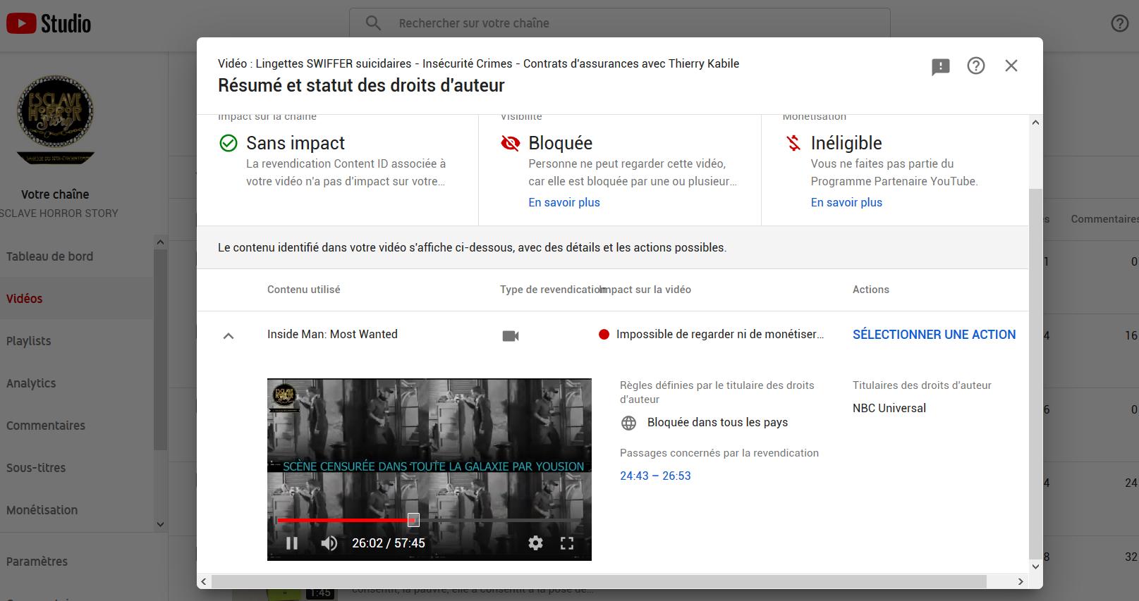 Videos censurees